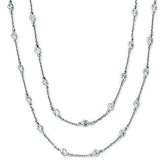 Collana in argento Sterling CZ - 36 pollici