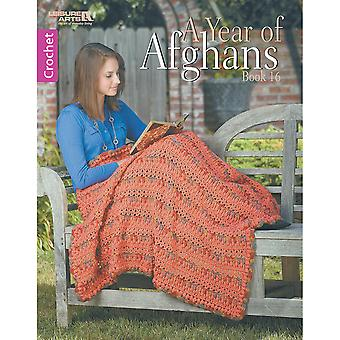 Leisure Arts-A Year Of Afghans Book 16 LA-6863