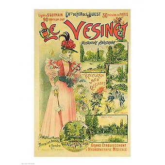 Plakat for Chemins de Fer de lOuest til Le Vesinet plakat Print af Albert Robida