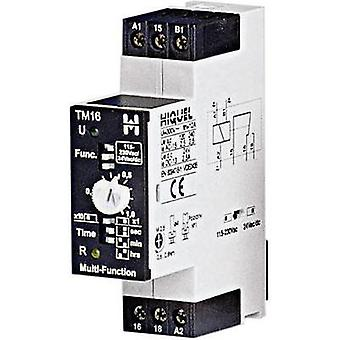 Hiquel TM16+ Time Delay Relay, Timer, 1 changeover 8 time functions (delayed drop off, delayed pick up, momentary pick u