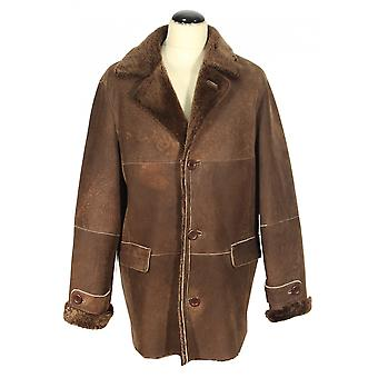 Slamano - lambskin men coat winter coat Nordic Shearling collar leather jacket