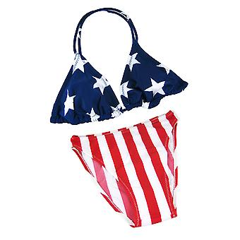 アメリカの国旗の三角形トップ ビキニ USA 星条旗