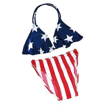 Amerikanische Flagge Triangle Bikini Top USA Stars Stripes