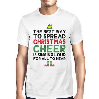 Meilleure façon de propager Noël Cheer chemise cadeau de vacances masculin blanc