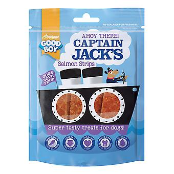 Good Boy Captain Jack's Salmon Strips 90g (Pack of 10)