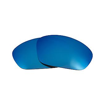 New SEEK Polarized Replacement Lenses for Oakley STRAIGHT JACKET Blue Mirror