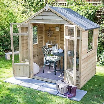 Forest Garden Oakley 7x5 Overlap Pressure Treated Summerhouse