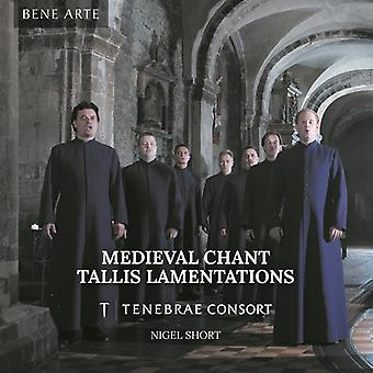 Tallis/Sheppard/Tenebrae Consort/Short - Medieval Chant: Tallis Lamentations [CD] USA import