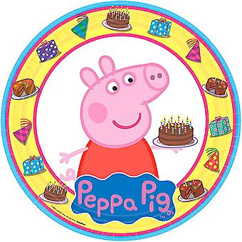 Peppa Pig 9 Inch Round Plates [8 in a Package]