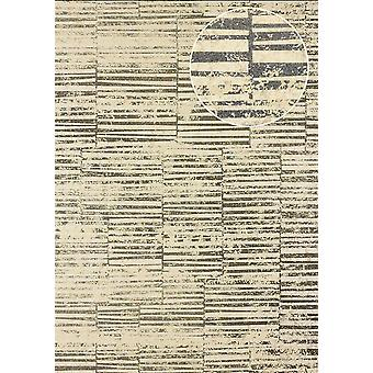 Stripes Atlas 24C-5056-4 non-woven wallpaper smooth with graphic patterns and metallic effect beige Brown ivory silver 7,035 m2