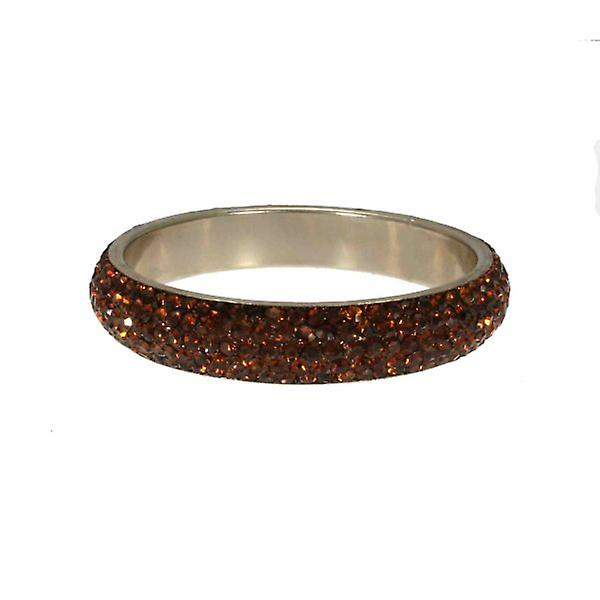 W.A.T Thin Crystal Bangle Brown Crystals