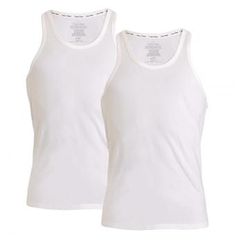 Calvin Klein ID Cotton Tank Top 2-Pack, White, X-Large