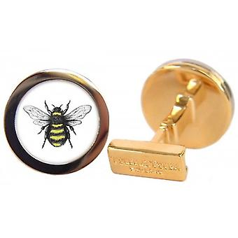 Tyler and Tyler Bumble Bee Capsule Cufflinks - Gold