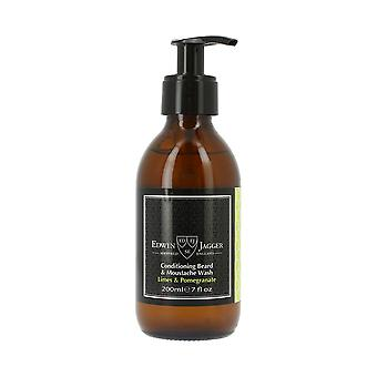 Edwin Jagger Conditioning Beard and Moustache Wash Limes and Pomegranate 200ml