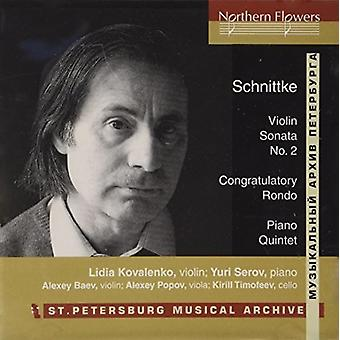 St. Petersborg Ensemble - Schnittke: Violin Sonata No. 2 klaver kvintet [CD] USA import