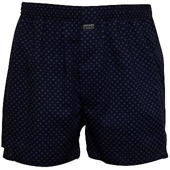 Jockey Geometric Print Woven Boxer Short, Blue