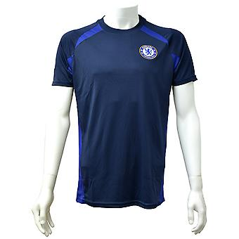 Chelsea FC Mens Official Navy Panel T-Shirt