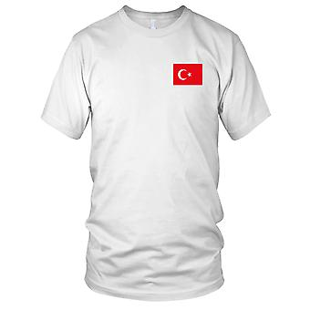 Turkey Country National Flag - Embroidered Logo - 100% Cotton T-Shirt Kids T Shirt