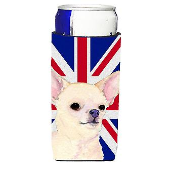 Chihuahua with English Union Jack British Flag Ultra Beverage Insulators for sli