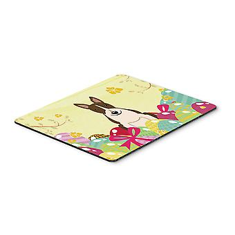 Easter Eggs Bull Terrier Dark Brindle Mouse Pad, Hot Pad or Trivet