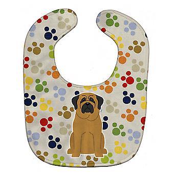 Carolines Treasures  BB5847BIB Pawprints Mastiff Baby Bib