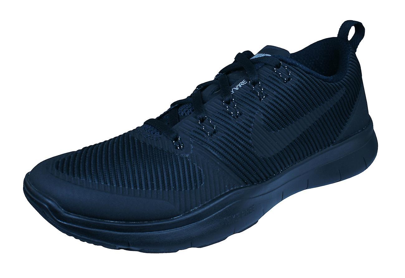 Nike freie Bahn Vielseitigkeit Mens Running Trainer / Schuhe - Schwarz