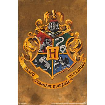 Гарри Поттер - герб Хогвартса Плакат Плакат Печать