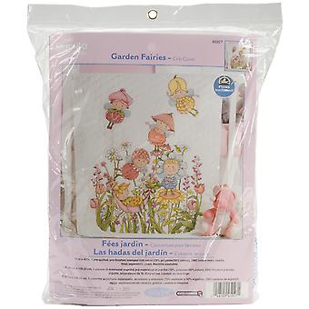 Garden Fairies Crib Cover Stamped Cross Stitch Kit 34