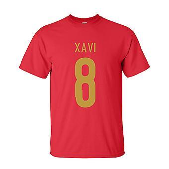 Xavi Spania helten T-shirt (rød)