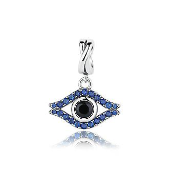 Sterling silver pendant charm Wicked eye SCC086