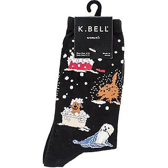 Novelty Crew Socks-Dog Bath NOVSOCKS-5H011