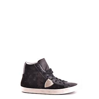 Philippe model women's MCBI238067O Black Suede leather Hi Top sneakers