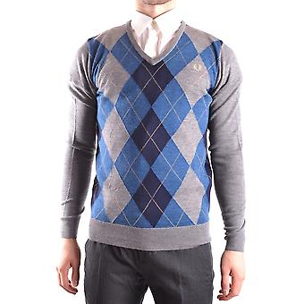 Fred Perry Herren MCBI128166O Multicolour Wolle Sweater