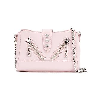 Kenzo women's F762SA108L2534 pink nylon shoulder bag