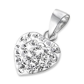 Heart - 925 Sterling Silver Jewelled Pendants