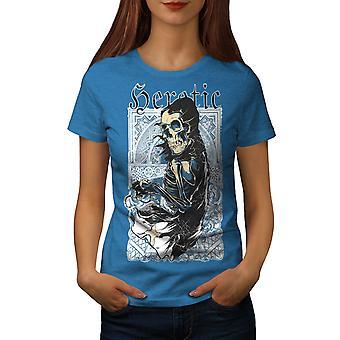 Heretic Fantasy Skull Women Royal BlueT-shirt | Wellcoda