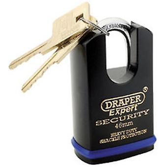 Draper 64196 Expert 46mm Heavy Duty Padlock And 2 Keys With Shrouded Shackle