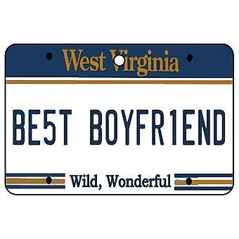 West Virginia - Best Boyfriend License Plate Car Air Freshener