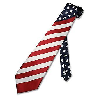 Amerikansk flagg menns halsen Tie USA patriotiske slips