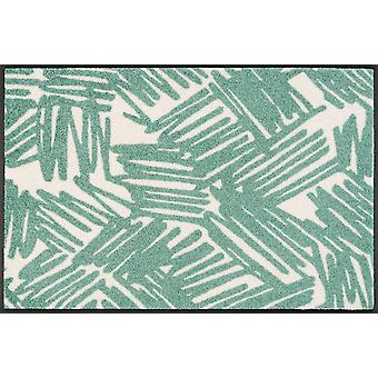 wash + dry mat urban Lines green 50 x 75 cm cm washable dirt mat