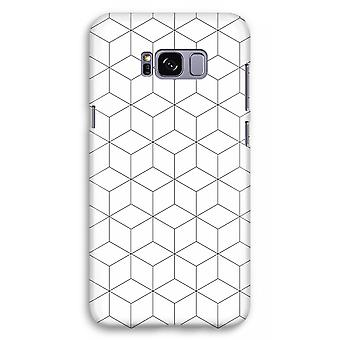 Samsung Galaxy S8 Plus Full Print Case (Glossy) - Cubes black and white
