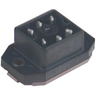 Hirschmann 932 918-100 GO 60 FAV M Mounted Connector With Flange And Solder Contacts Black Number of pins:6