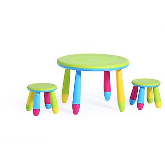 Stained seat Group 1 table 2 x stools children stool seating indoor & outdoor
