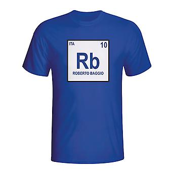 Roberto Baggio Italia tavola periodica t-shirt (blu)