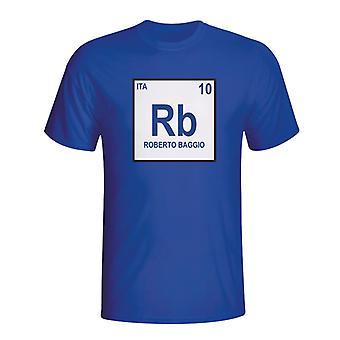 Roberto Baggio Italien periodiske T-shirt (blå)