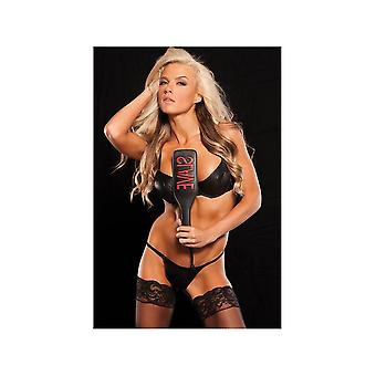 Allure Lingerie AL-2053  Talk Dirty To Me Leather Paddle