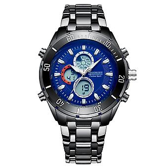 Barkers of Kensington Premier Sport Blue Mens Steel Sports Watch with Rotating Dial
