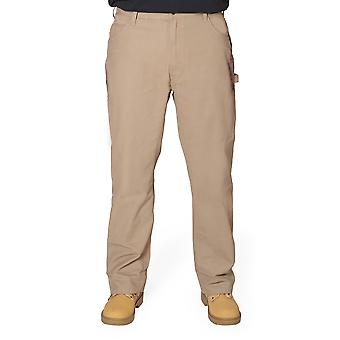 BERNE Authentic American Work Pants - Timber Khaki Mens Work Trousers Industrial