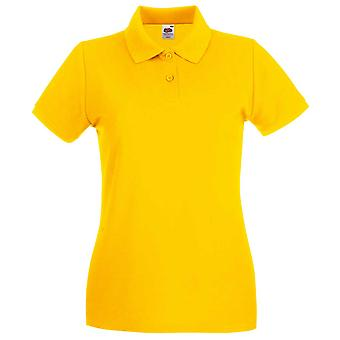 Fruit of the Loom Lady Fit Premium Colours Short Sleeve Cotton Polo Shirt