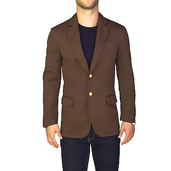 Prada Men's Cotton Two-Button Sportscoat Jacket Brown